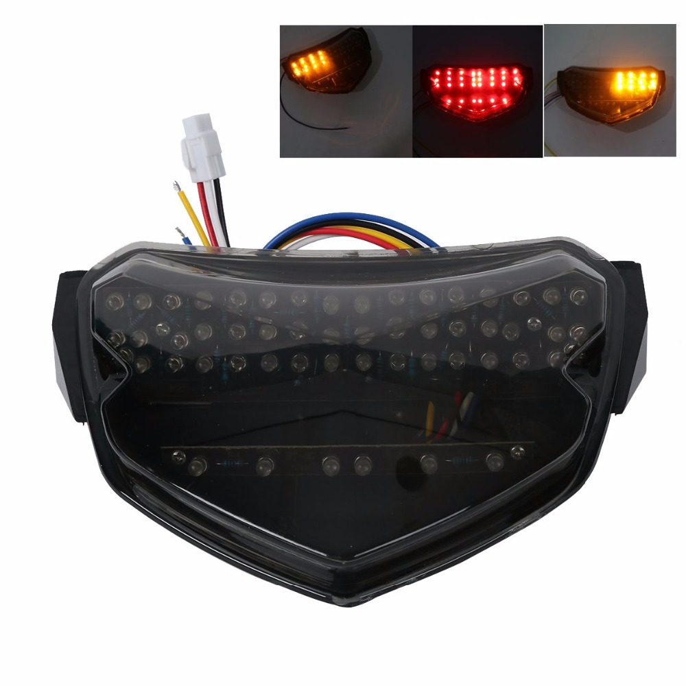 Smoke / Clear Motorcycle LED Brake Tail Light Turn Signal TailLight Case For SUZUKI GSXR600 GSXR750 GSXR 750 600 K4 2004 2005 new led tail light taillight turn signal lamp for ducati streetfighter s 848 1102012 2013 2014 smoke motorcycle parts