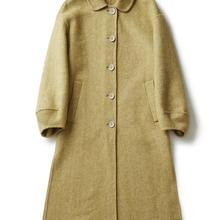 de120d64fa Elegancki zima ciepły płaszcz żółty wełna owcza alpaki płaszcze damskie  koreański długi Casual Slim Oversize wełniany