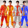 d40298bdb Men Lion Dance Drum Dance Costume Male Yangko Dance Performances Chinese  National Dance Clothes Chinese Folk Costume