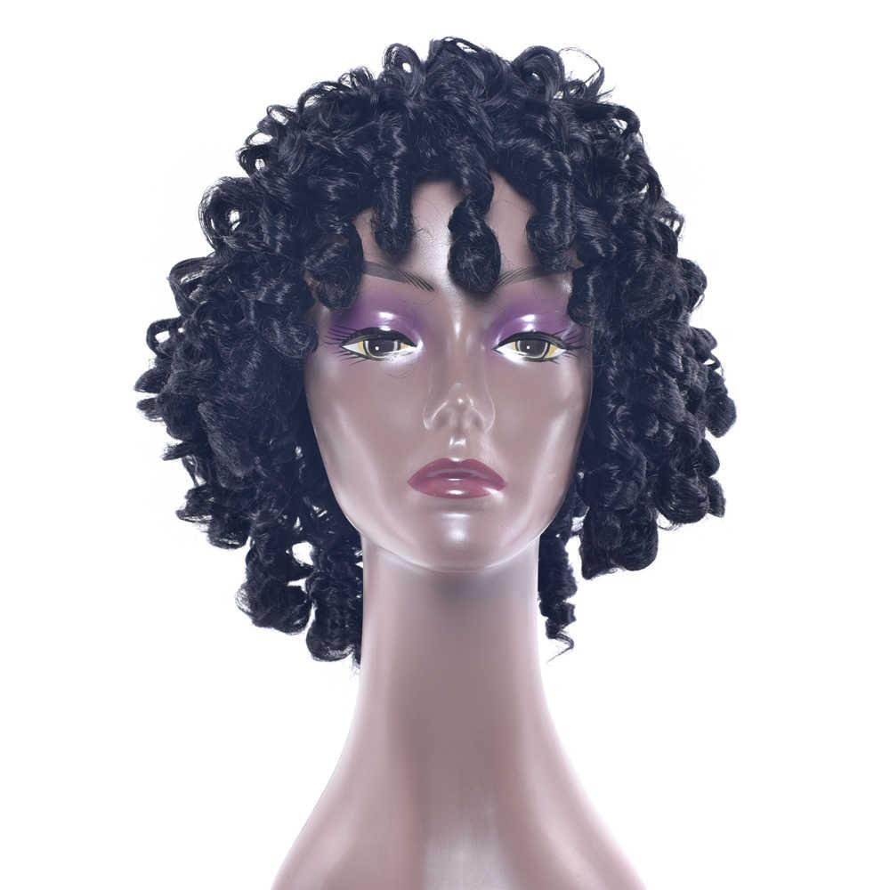 Soowee 5 цветов синтетические волосы высокотемпературные волокна короткие коричневые вечерние парики для косплея афро кудрявые парики для черных женщин и мужчин