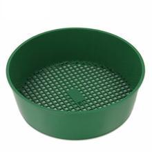 Пластиковое садовое сито загадка зеленый для компоста почвы камень сетка почвы сито фильтрация большие камни и веточка из почвы садовый инструмент