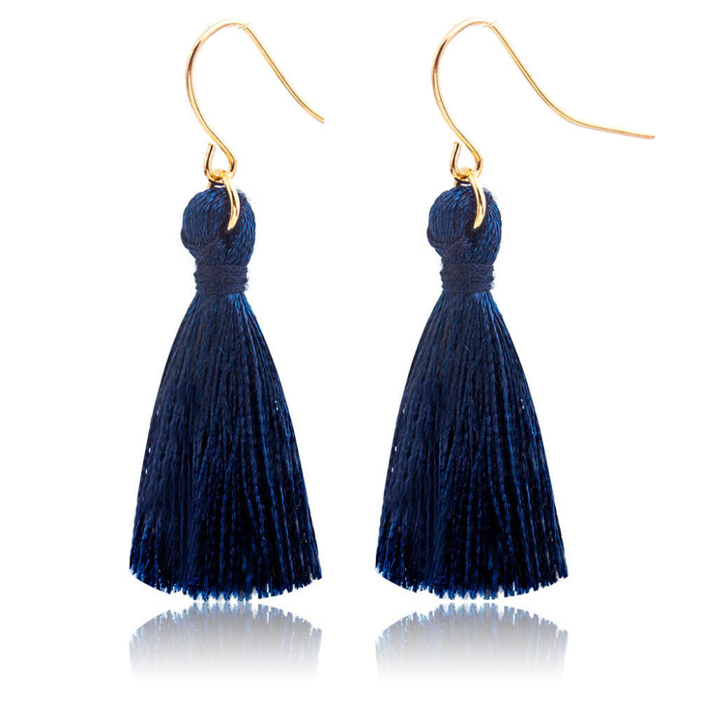 Tassel Earrings For Women Gold Drop Earring Silk Dangle Eardrop Statement Charm Fashion Ear Jewelry Accessories Pendientes