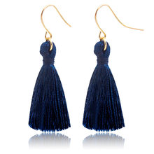 Tassel Earrings For Women Gold Drop Earring Silk Dangle Eardrop Statement Charm Fashion Ear Jewelry Accessories Pendientes(China)