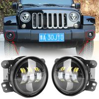 High Power 2PCS Pair 4 Inch 30W LED White Round Fog Lights Lens Projector Waterproof Fog