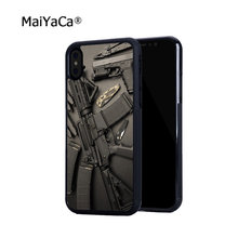 Nice armas rifle armas macio silicone hight qualidade casos de telefone para iphone 5s se 6s mais 7plus 8plus x xr xs max capa(China)