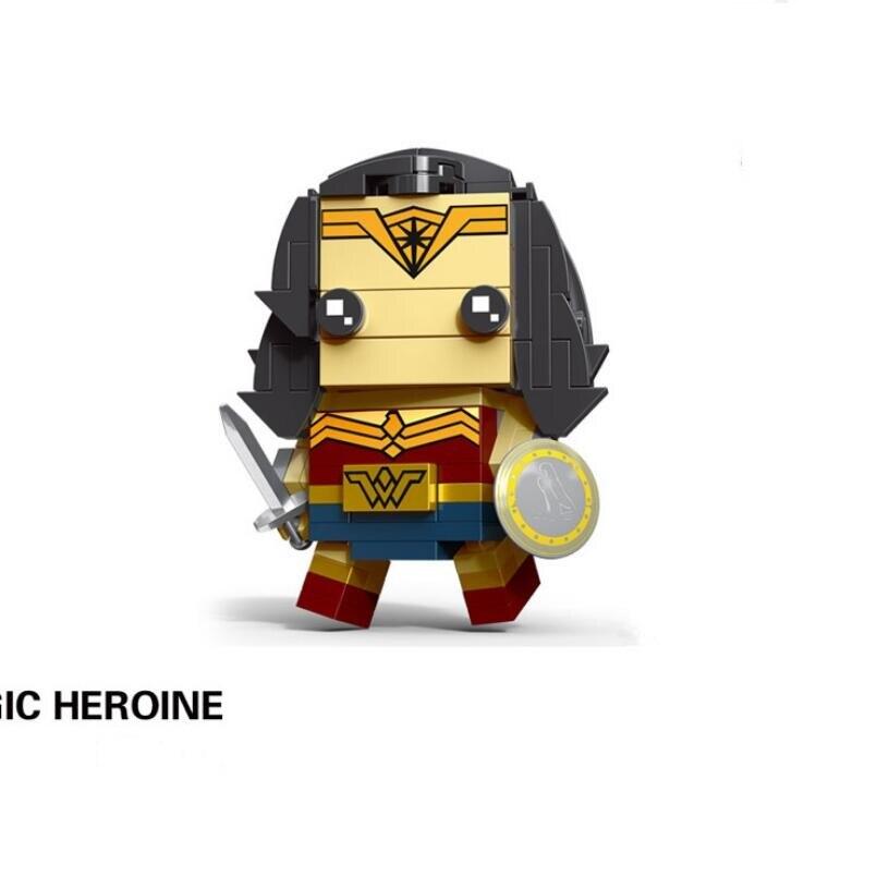 NEW brickheadz Legoinglys Christmas The Avengers Justice League Marvel Super Hero Hulk Thanos Building Block Bricks Toys 39