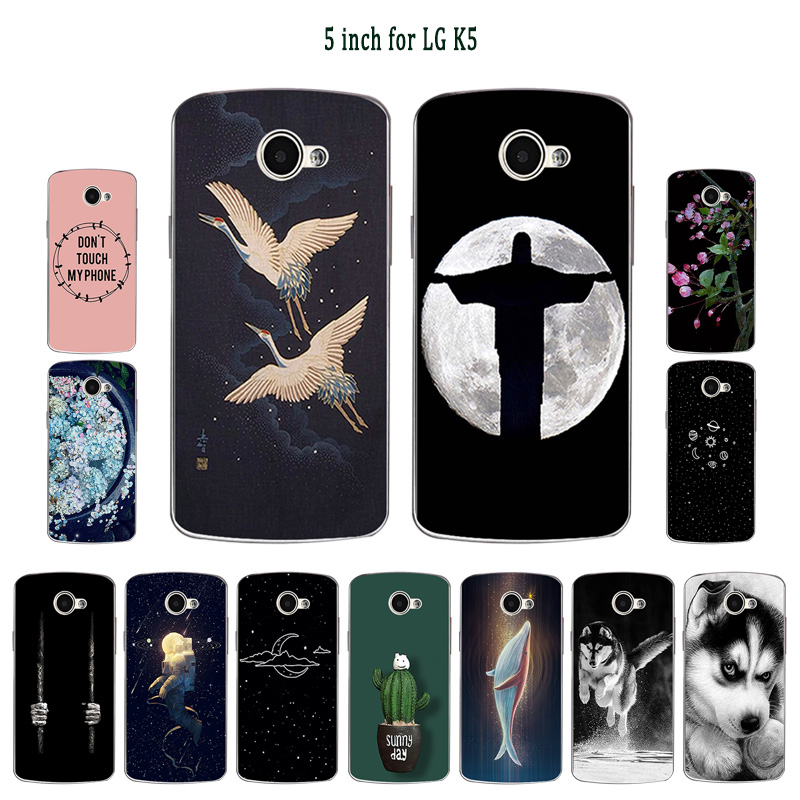 For LG K5 Case Luxury Soft TPU Case For LG K5 X220 <font><b>X220DS</b></font> 5.0