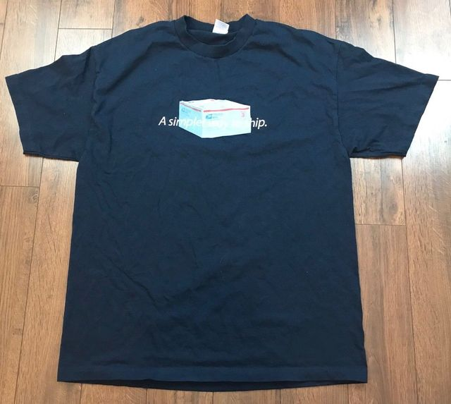 085ccd461 USPS PRIORITY MAIL T Shirt POST OFFICE USA Mailman Box Logo Band Tee Vtg Sz  L