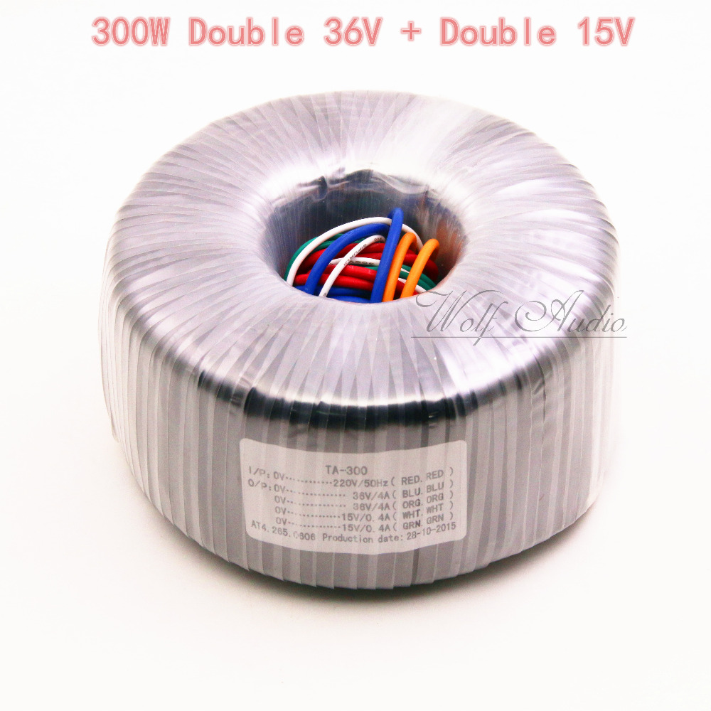 300W Toroid Transformer For Preamp Amplifier Primary 220V Secondary 36V 2 15V 2 Power Transformers