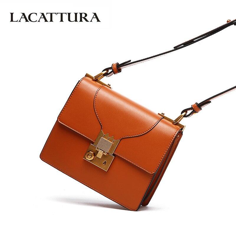 LACATTURA Luxury Handbags Women Bags Designer Fashion Shoulder Bags Ladies High Quality Messenger Bags Crossbody Bag