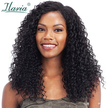 ILARIA Brazilian Curly Hair Lace Front Wigs For Black Women 360 Frontal Wig Full Lace Human Hair Wigs Pre Plucked With Baby Hair(China)