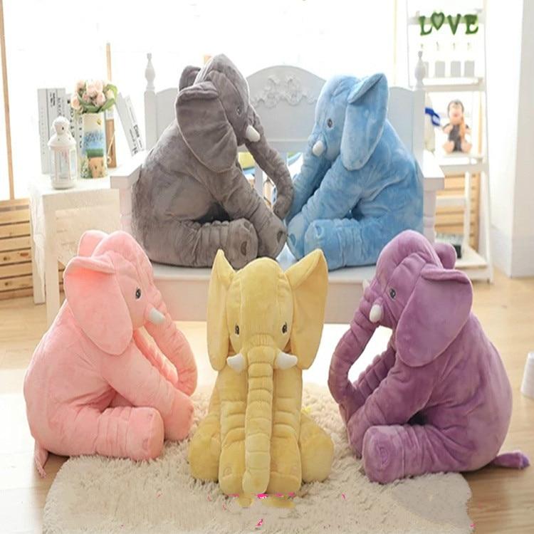 Plush Toys Elephant Pillow Blanket Baby Sleeping Comfort Dolls Cushion For Children кровать comfort plush 152х203х56см со встроенным насосом 220в intex 64418
