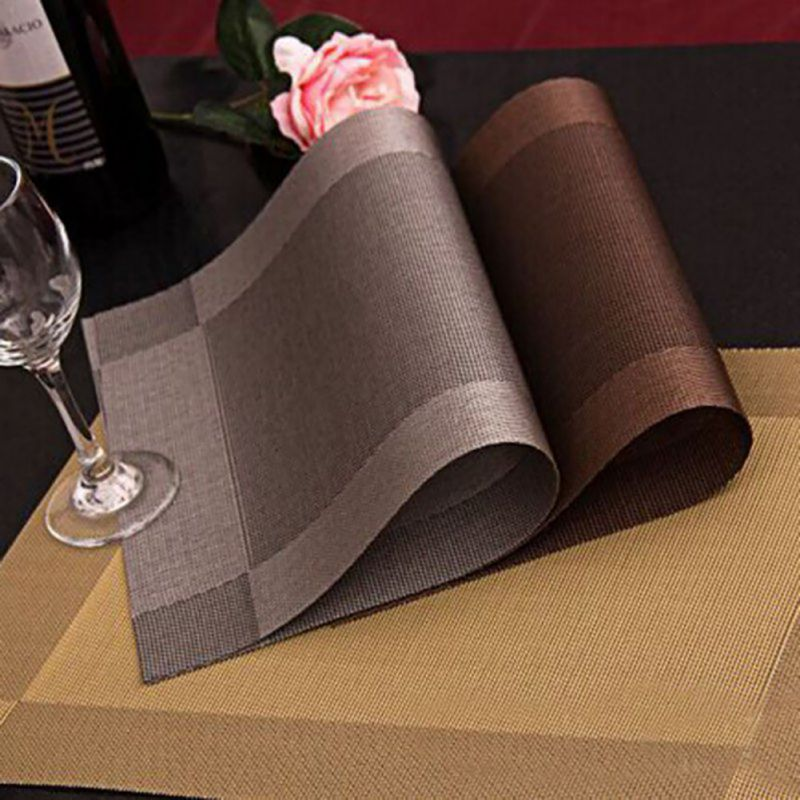 4 Pcs Placemat Fashion Pvc Dining Table Mat Disc Pads Bowl Pad Coasters Waterproof Cloth Slip Resistant LH8s