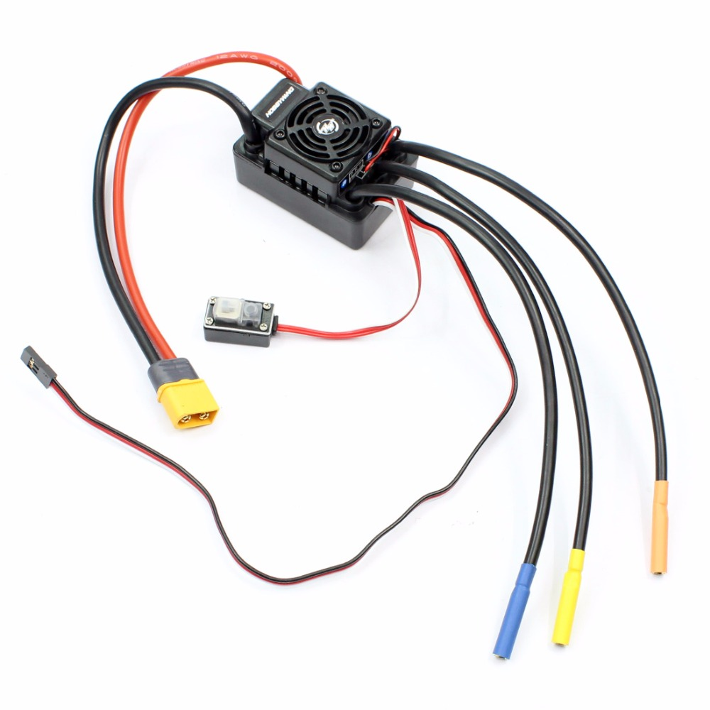 Hobbywing EZRUN WP SC8 120A Waterproof Speed Controller Brushless ESC with XT60 /T Type Connector for RC Car Short Truck wp sc8 waterproof 120a brushless esc splash water proof dust ezrun wp sc8 esc 2 in 1 multi functional professional programming
