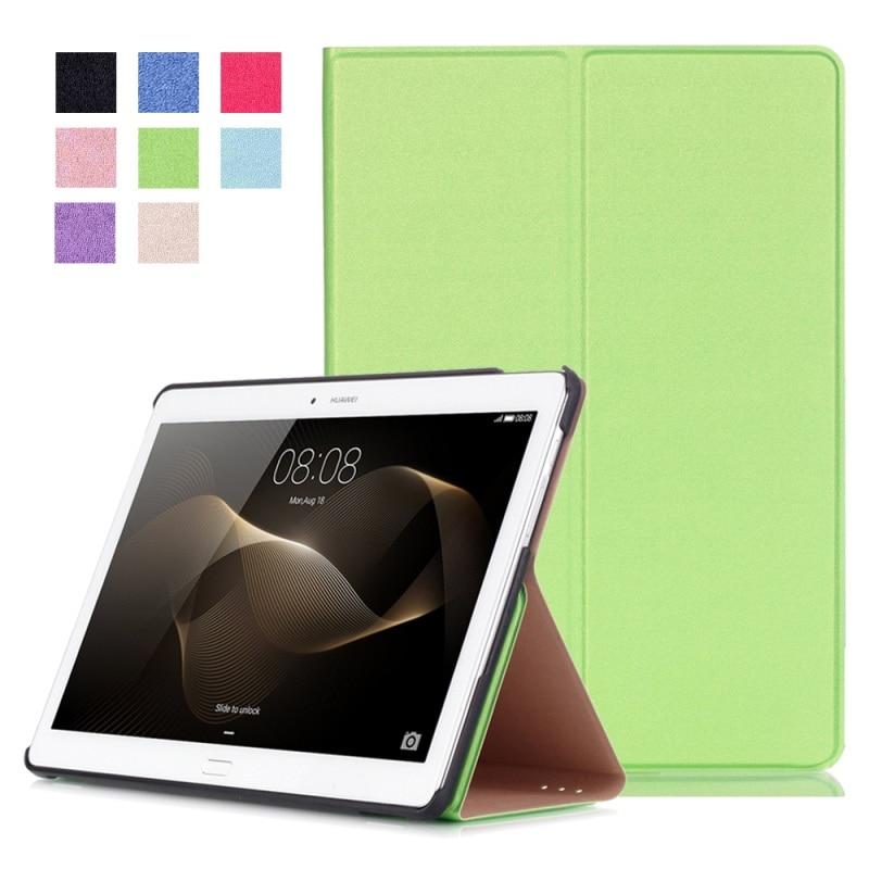 imágenes para Leather case cubierta del soporte para huawei mediapad m2 10.0 inteligente-verde