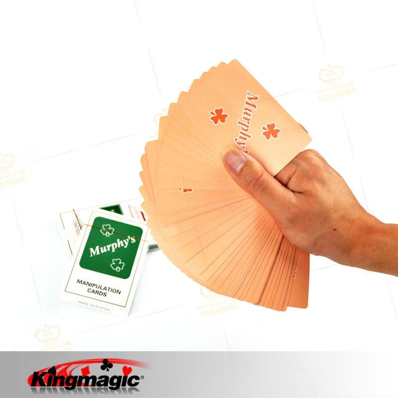 Manipuleringskort Tunna kort Slim Poker Grön Färg King Magic Props Närbild Stage Magic Tricks Rolig Magicina Deck