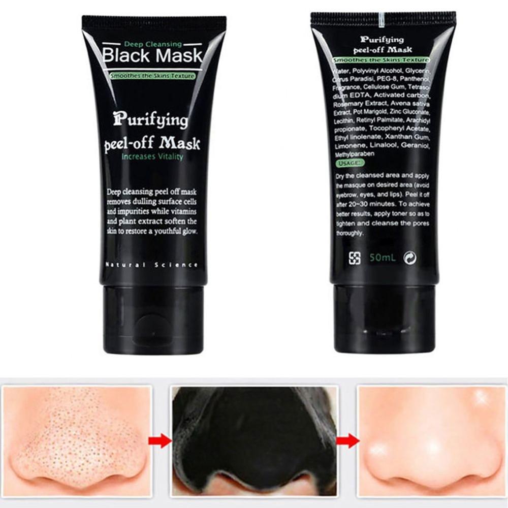 Effective!5 minutes Blackhead Remove Masks Deep Cleansing Purifying Peel Off Facial Black Masks Комедон