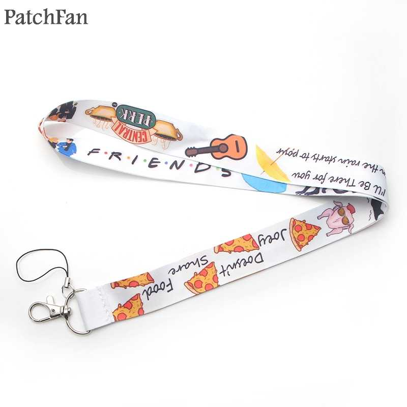 Patchfan Friends tv show keyring keychain lanyard webbing ribbon neck strap para id badge phone holders necklace A1473