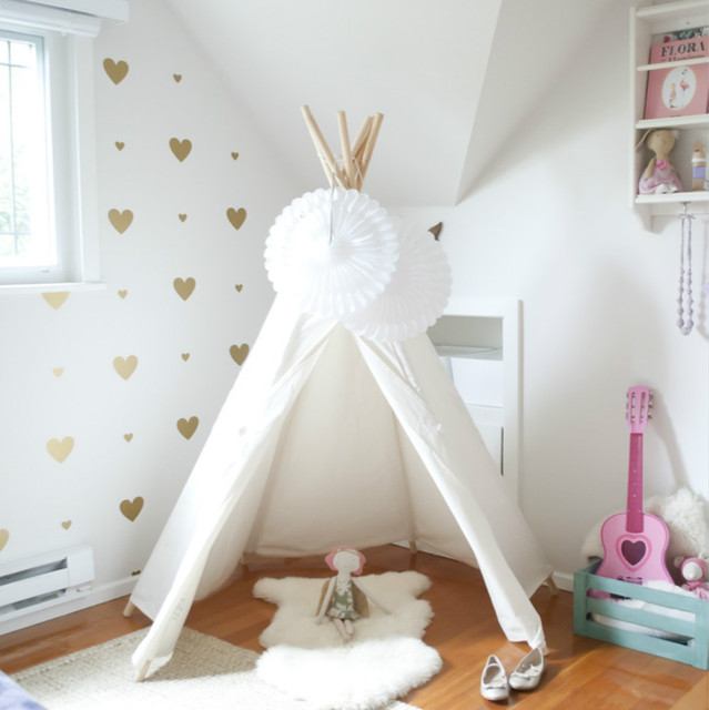LoveTree Children Indian Teepee- Hexagon White Color No Window Style Kids Tent Teepee toy tent : no white tent - memphite.com