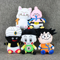 5Pcs/Lot Dragon Ball Z Son Goku Chiaotzu Majin Buu Mr Popo Garin Fairy Doll Plush Doll Kids Baby Toy Pendant Children Gift
