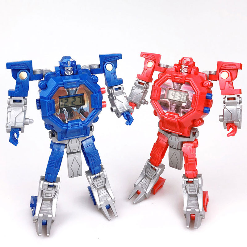 Waterproof Robot Kids  Watches Toys For Children Birthday Christmas Gift Boys  Children Watch