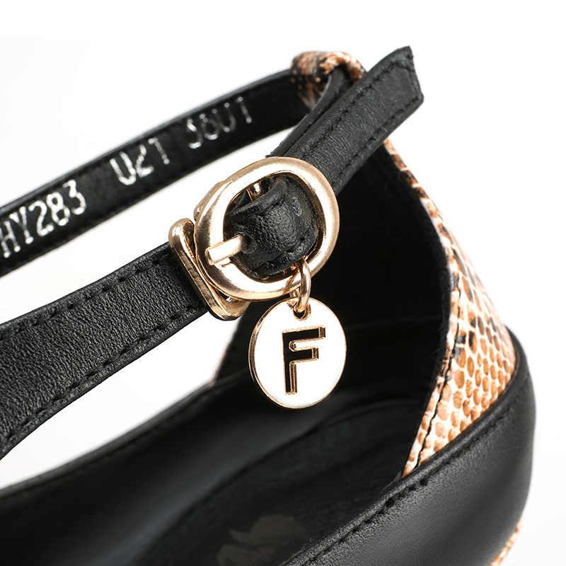 Evren SEKSI Ayak Bileği Kayışı Pompa Hakiki Deri Süper Yüksek Topuk Ince Topuklu Siyah Sonbahar Bayanlar Elbise Parti Kadın Ayakkabı C022