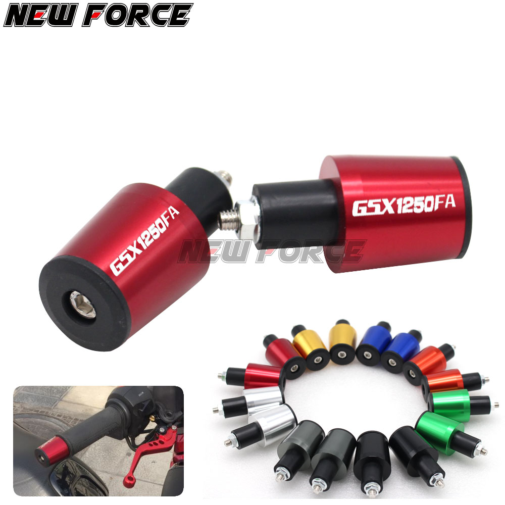 CNC 22MM Handlebar Grips Handle Bar Cap End Plugs For <font><b>SUZUKI</b></font> GSX1250 F/SA/ABS GSX1250FA <font><b>GSX</b></font> <font><b>1250</b></font> <font><b>FA</b></font> 2010-2016 image