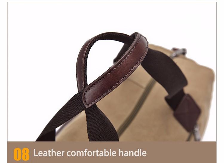 Famous Brand Men Vintage Canvas Men Travel Bags Women Weekend Carry On Luggage & Bags Leisure Duffle Bag Large Capacity Handbags (39)