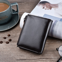 2019 new Genuine Leather wallet Brand Women Men Purse Business Credit Card Holder Double Zipper Cow rfid Wallets money clutches