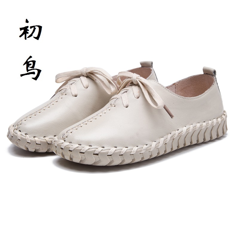 2017 Fashion Lace-up Genuine Leather White Loafers Women Flats Ladies Creepers Platform Shoes Woman Espadrilles Chaussure Femme phyanic creepers 2017 leisure lace up silver platform shoes woman loafers fashion flats women brogue shoes 3 colors xdy4257