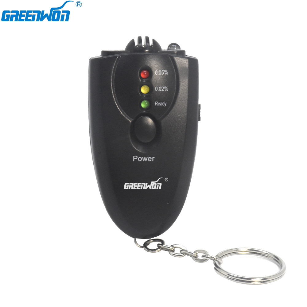 Accurate LED Key Chian Alcohol Breath Tester With Light Torch