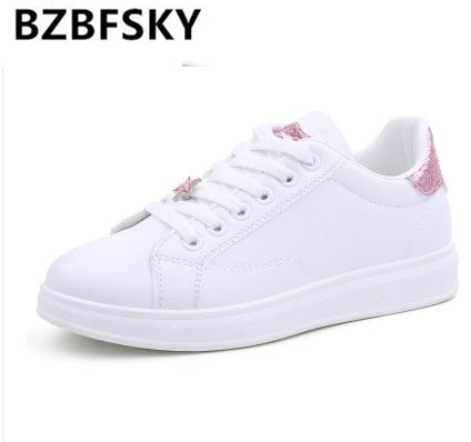 Classic shoes woman sneakers spring/autumn female shoes sewing lace-up adult fashion womens shoes tenis feminino size 35-40