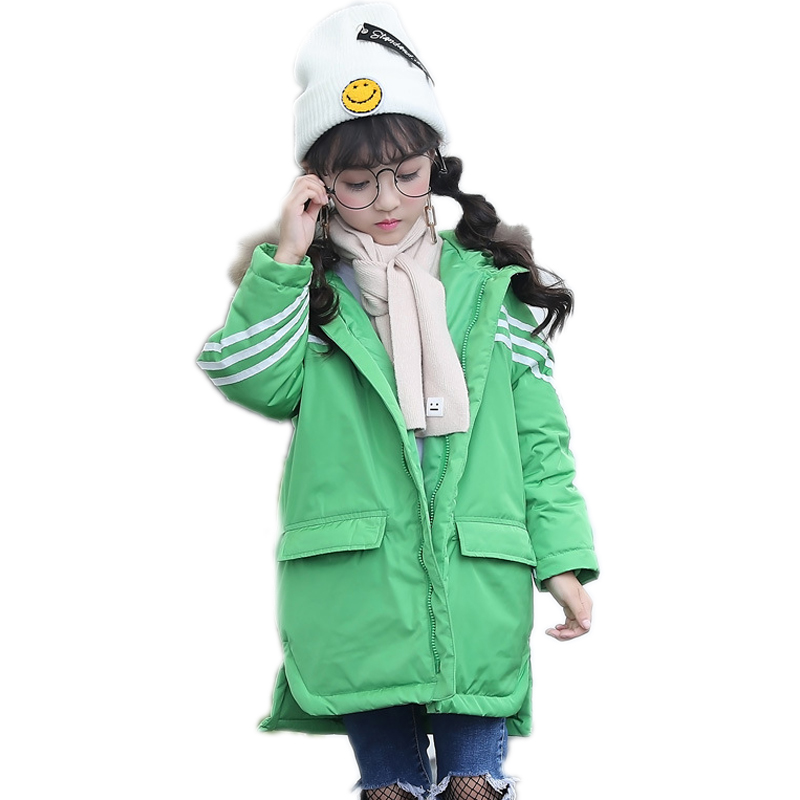 winter girl jackets and coat winter kids coats solid hooded teenager girls cotton padded jackets white duck down girls snowsuits casual 2016 winter jacket for boys warm jackets coats outerwears thick hooded down cotton jackets for children boy winter parkas