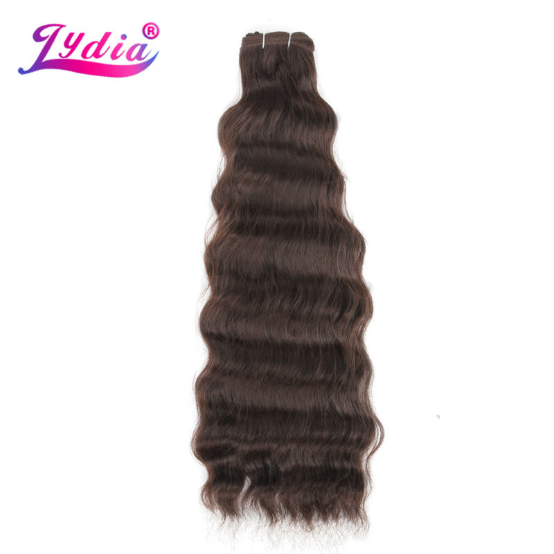 Lydia sintetička priroda Wave 3Pieces / lot Priroda Boja Futura Mješovita kosa Extension Priroda Wave Weaving Hair Bundles