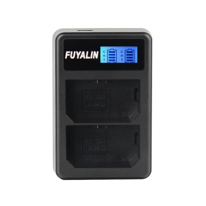 Nuevo cargador de batería Dual del LCD BC-QZ1 para SONY Alpha 9 A9 A9R ILCE-9 A7R3 NP-FZ100