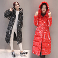 Новый Outerwears зима женщины хлопка с длинным Пальто Корейский толще Slim Down ватник теплый милый студент