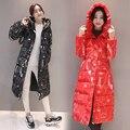 Nuevos Outerwears invierno algodón de las mujeres Capa larga de Corea gruesa Slim Down chaqueta acolchada caliente estudiante lindo