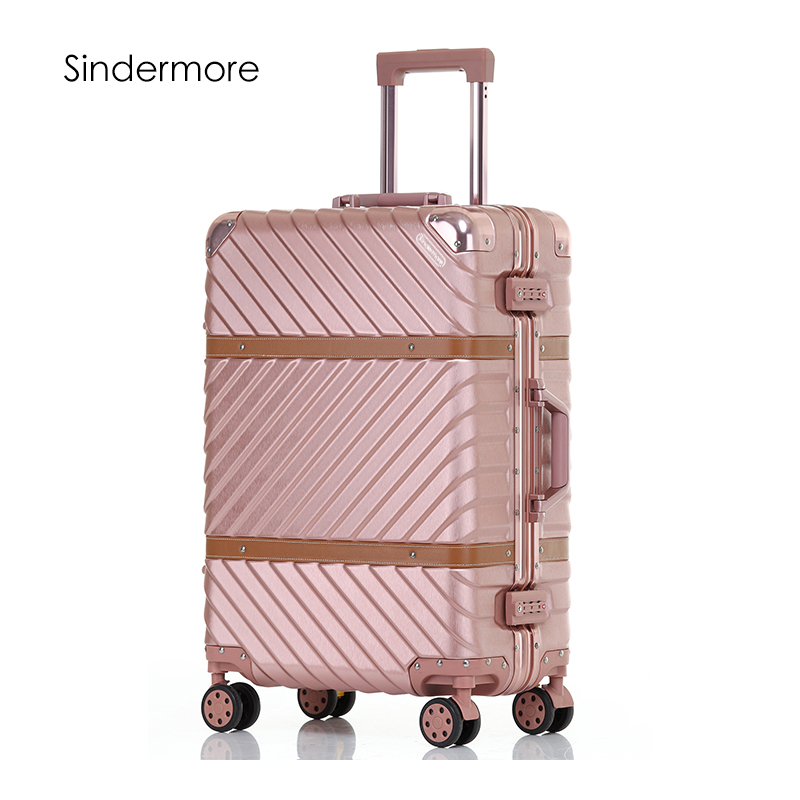 Sindermore Aluminum Frame VS PC Luggage Suitcase 24 26 29 Checked Luggage 20 Carry On Luggage Hardside rolling luggage hardside rolling luggage suitcase 20 carry on 242628 checked luggage aluminum frame pc shell luggage travel trolley suitcase