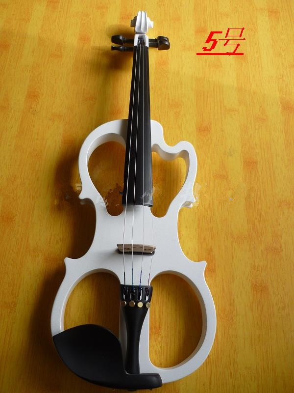 N5 High quality white color electric violin 4/4 violin handcraft violino Musical Instruments violin Brazil Wood bow handmade new solid maple wood brown acoustic violin violino 4 4 electric violin case bow included