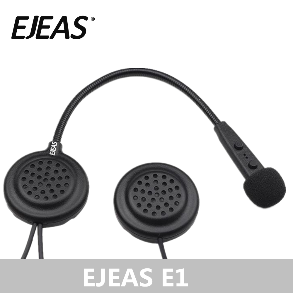 EJEAS E1 Helmet Bluetooth Headset Interfone 15M CSR Chip 270mAh 12Hrs Talk Microphone Speaker MP3 Motorcycle Communication image