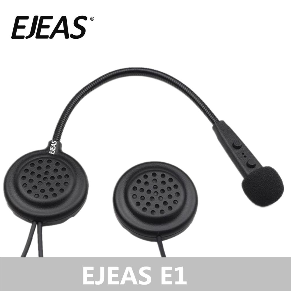 EJEAS E1 casque Bluetooth casque Interfone 15 M CSR puce 270 mAh 12Hrs parler Microphone haut-parleur MP3 moto Communication