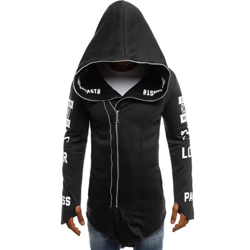 ZOGAA Mens Streetwear Hoodies Zipper Outwear Jacket Men Casual Hoodie Clothes 2018 Sweatshirts