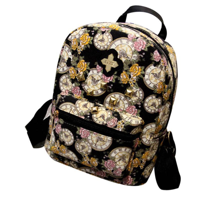 New Printing Backpack Fresh Floral Drawstring Bag Canvas Backpack Mochila Feminina scione ethnic canvas backpack printing elephant butterfly drawstring casual rucksack travel shoulder bag mochila feminina xa739a