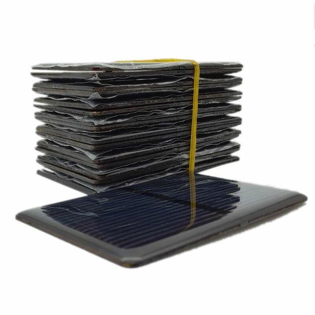 Aoshike 5PCS Epoxy Solar Panel 2V 300mA Polycrystalline Sun Cell Sunpower Module DIY Solar Cell Battery Charger 2V 0.3A 80*50mm
