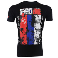 VSZAP Fedor Emelianenko Men T-shirt Printed MMA Fighting Fitness Muay Thai Sanda UFC Fight Workout Tee Shirt Brand Clothing