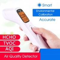 3 in 1 Digital Air Quality Detector Portable Formaldehyde Detector AQI HCHO TVOC Monitor Smart Calibration Accurate Gas Analyzer