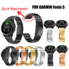 Genuine Stainless Steel Bracelet Quick Replacement Fit Band Strap Wristband For Garmin Fenix 5 GPS Watch