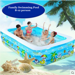 Image 2 - 2021 Infant &Childrens Inflatable Swimming Pool Large Family Swimming Pools Ocean Ball Pool Adult Bathtub Thickened