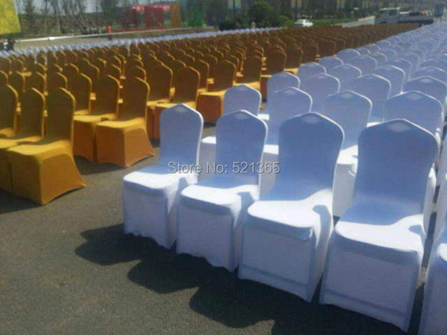 Marvelous Us 295 0 Wholesale 100Pcs Lot Universal White Wedding Party Chair Covers For Weddings Banquet Folding Hotel Decoration Decor In Chair Cover From Alphanode Cool Chair Designs And Ideas Alphanodeonline