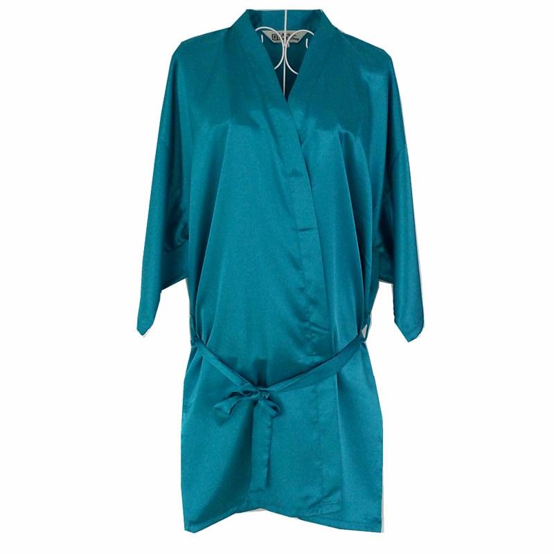 New Lake Blue Chinese Women Silk Rayon Robe Kimono Bath Gown Sleepwear Sexy Lingerie Nightgowns Plus Size S M L XL XXL XXXL